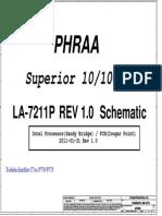 Toshiba Satellite c7xx p770 p775 - Compal La-7211p Phraa - Rev 1.0