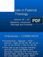 Pastoral Theology Lect 18-19