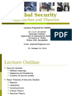 Security Studies -- Key Approaches and Theories