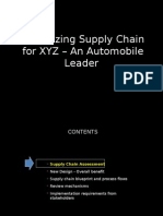 Revitalization of Supply Chain for XYZ