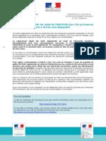 Courrier officiel d'information sur la fin des tarifs réglementés de l'électricité (tarifs jaunes et verts)