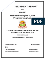 Bca 651 Java Lab Assignment