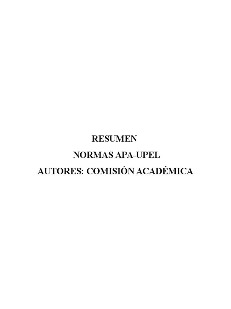 Resumen de Normas Upel 1