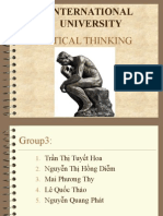 Critical Thinking- Chap 3, Final Slide