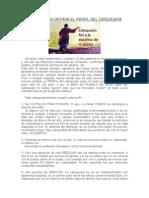 Urgencia en Definir El Perfil Del Catequista