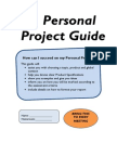 personal project guide