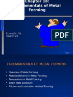 Chapter 18-Fundamentals Metal Forming