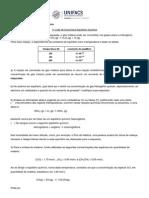 1a. Lista Exercícios Equilíbrio Químico (UNIFACS)