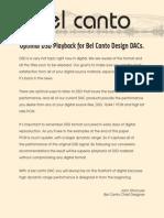 Optimal DSD Playback