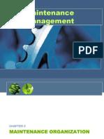 Chapter 3 - Maintenance Organization