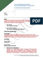 Contoh Format Minit Mesyuarat