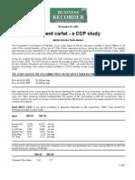 Cement Cartel - A CCP Study