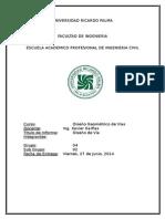 Informe de Diseño Geométrico de Vías - URP