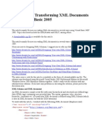 Reading and Transforming XML Documents Using Visual Basic 2005