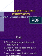 CLASSIFICATIONS DES ENTREPRISES