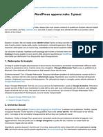 Blog.serverplan.com-Ottimizzare Un Blog WordPress Appena Nato 5 Passi Indispensabili