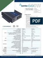 Especificaciones INVERSOR PST-600!12!24