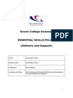 Essential Skills Policy