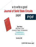 How to Write a Good JSSC Paper