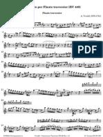 Vivaldi Concerto Per Traversier RV 440 Flauto