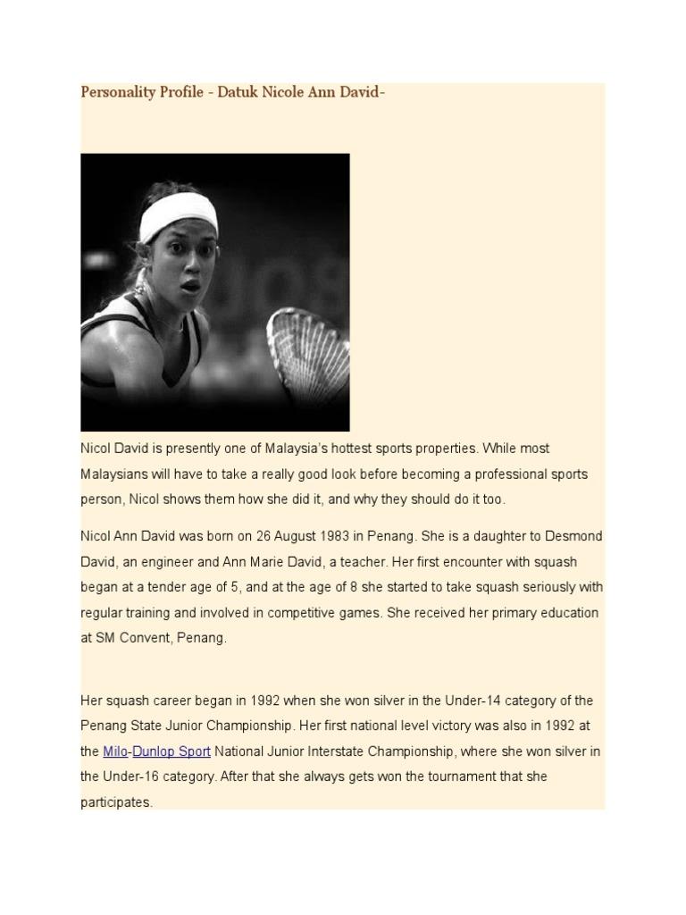 Essay About Datuk Nicol Ann David