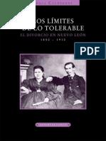 El Divorcio en Nuevo Leon 1850-1910