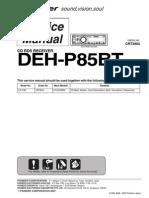 Pioneer Deh-p85bt Crt3904 Sm