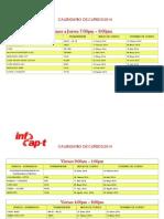 Calendario Cusos Infocapt 2014