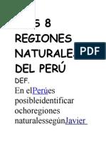 8 Regiones Del Peru