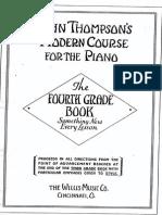 John Thompson - Modern Course for Piano - 4th Grade