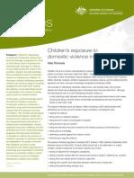 Children's exposure to  domestic violence in Australia