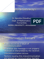 Barriers & Gateways