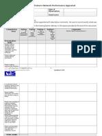 09 ITN Appraisal Form 7-09 A