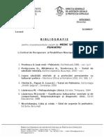 Tematica Bibliografie Medic Spec Psihiatru