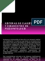 Sistemas de Clasificacion y Diagnóstico en Psicopatología
