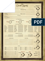 The One Ring Roleplaying Game Character Sheet