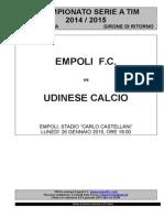 Empoli-Udinese - 20° giornata serie A