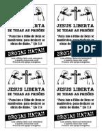 Folhetos Evangelísticos Contra Drogas e Álcool