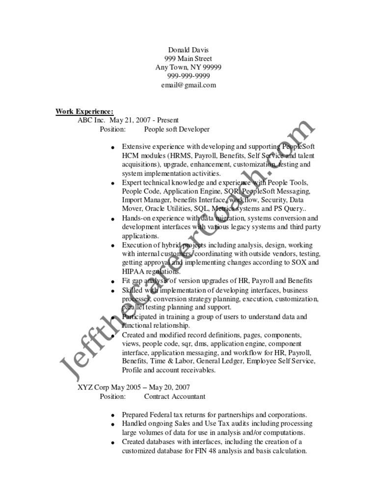 peoplesoft developer sample resume  3