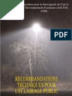 eclairage publique Cahier Recommandations Techniques