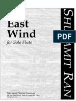 Ran, Shulamit. East Wind. Ed. Theodorer Presser