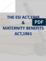 ESI & Maternity Benefits Act Presentation