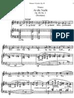 Brentano Lieder No. 1