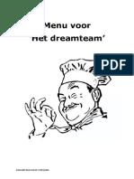 scenario of menu for dreamteam