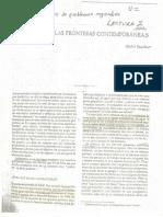 Tipología de las fronteras contemporaneas
