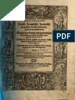 Dictionaire Francois Allemande Italien (1616)