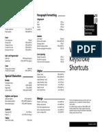 Word 2003 Keystroke Shortcuts