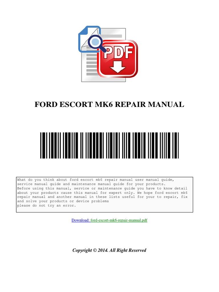 ford escort mk6 repair manual download. Black Bedroom Furniture Sets. Home Design Ideas