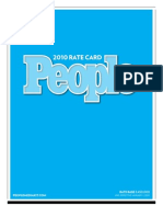 People Magazine Rate Card
