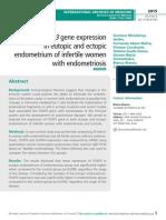 Aberrant FOXP3 gene expression in eutopic and ectopic endometrium of infertile women with endometriosis